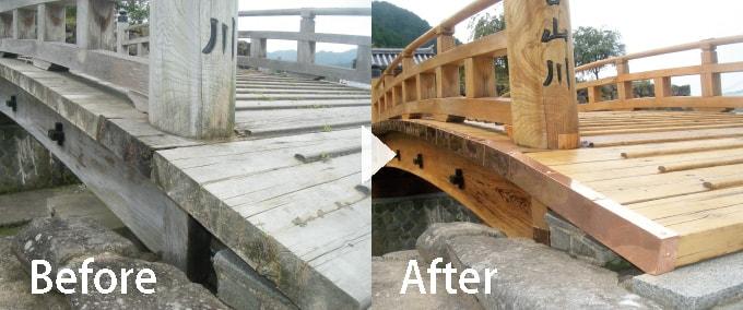出石城登城橋改修工事