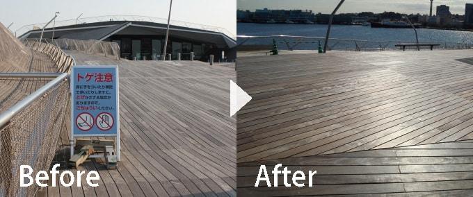 横浜大さん橋国際フェリーターミナル デッキ改修工事